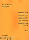 Okładka: Przybylski Bronisław Kazimierz, Chromatica na 2 trąbki B (partytura + głosy, ca 2')