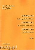 Ok�adka: Przybylski Bronis�aw Kazimierz, Chromatica na tr�bk� B i gitar� (partytura + g�osy, ca 2')