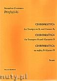 Ok�adka: Przybylski Bronis�aw Kazimierz, Chromatica na tr�bk� B i klarnet B (partytura + g�osy, ca 2')