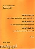 Ok�adka: Przybylski Bronis�aw Kazimierz, Chromatica na saksofon sopranowy i klarnet B (partytura + g�osy, ca 2')