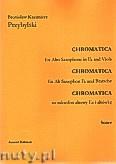 Ok�adka: Przybylski Bronis�aw Kazimierz, Chromatica na saksofon altowy i alt�wk� (partytura + g�osy, ca 2')