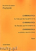 Ok�adka: Przybylski Bronis�aw Kazimierz, Chromatica na alt�wk� i saksofon altowy (partytura + g�osy, ca 2')