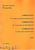 Okładka: Przybylski Bronisław Kazimierz, Chromatica na wiolonczelę i saksofon altowy (partytura + głosy, ca 2')