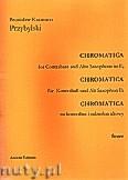 Okładka: Przybylski Bronisław Kazimierz, Chromatica na kontrabas i saksofon altowy (partytura + głosy, ca 2')