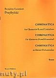 Okładka: Przybylski Bronisław Kazimierz, Chromatica na klarnet B i kontrabas (partytura + głosy, ca 2')