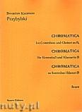 Okładka: Przybylski Bronisław Kazimierz, Chromatica na kontrabas i klarnet B (partytura + głosy, ca 2')