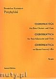 Ok�adka: Przybylski Bronis�aw Kazimierz, Chromatica na klarnet basowy i flet (partytura + g�osy, ca 2')