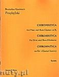 Okładka: Przybylski Bronisław Kazimierz, Chromatica na flet i klarnet basowy (partytura + głosy, ca 2')