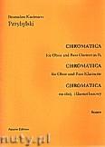 Okładka: Przybylski Bronisław Kazimierz, Chromatica na obój i klarnet basowy (partytura + głosy, ca 2')