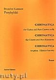Ok�adka: Przybylski Bronis�aw Kazimierz, Chromatica na gitar� i klarnet basowy (partytura + g�osy, ca 2')