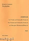 Okładka: Przybylski Bronisław Kazimierz, Chronos na 2 skrzypiec i wiolonczelę (Wersja A)