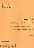 Ok�adka: Przybylski Bronis�aw Kazimierz, Chronos na skrzypce i 2 marimby (Wersja B)