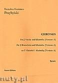 Ok�adka: Przybylski Bronis�aw Kazimierz, Chronos na 2 alt�wki i marimb� (Wersja A)