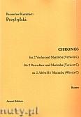 Ok�adka: Przybylski Bronis�aw Kazimierz, Chronos na 2 alt�wki i marimb� (Wersja C, partytura + g�osy, ca 4')