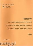 Okładka: Przybylski Bronisław Kazimierz, Chronos na skrzypce, altówkę i kontrabas (Wersja A partytura + głosy, ca 4')