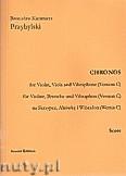 Okładka: Przybylski Bronisław Kazimierz, Chronos na skrzypce, altówkę, wibrafon (Wersja C  partytura + głosy, ca 4')