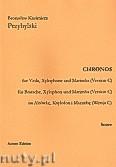 Ok�adka: Przybylski Bronis�aw Kazimierz, Chronos na alt�wk�, ksylofon, marimb� (Wersja C  partytura + g�osy, ca 4')