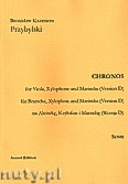 Ok�adka: Przybylski Bronis�aw Kazimierz, Chronos na alt�wk�, ksylofon, marimb� (Wersja D  partytura + g�osy, ca 4')