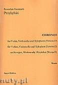 Okładka: Przybylski Bronisław Kazimierz, Chronos na skrzypce, wiolonczelę, ksylofon (Wersja D  partytura + głosy, ca 4')