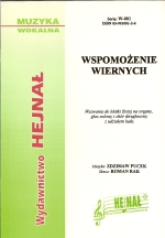 Okładka: Pucek Zdzisław, Wspomożenie wiernych, Wezwania do Matki Bożej na organy, głos solowy i chór dwugłosowy z udziałem ludu