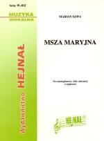 Okładka: Sawa Marian, Msza Maryjna na czterogłosowy chór mieszany z organami
