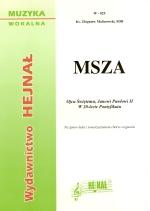 Okładka: Malinowski ks. Zbigniew, Msza na śpiew ludu z towarzyszeniem chóru i organów