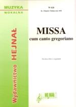 Okładka: Malinowski ks. Zbigniew, Missa cum canto gregoriano na dwa chóry z organami