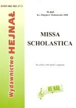 Ok�adka: Malinowski ks. Zbigniew, Missa Scholastica na schol� i ch�r m�ski z organami