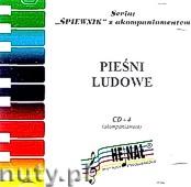 Okładka: , Śpiewnik akompaniamenty na CD 04. Pieśni ludowe