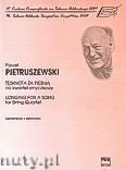 Okładka: Pietruszewski Paweł, Tęsknota za pieśnią na kwartet smyczkowy