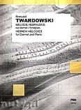 Okładka: Twardowski Romuald, Melodie hebrajskie na klarnet i fortepian