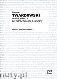Okładka: Twardowski Romuald, Trio numero 2 per violino, violoncello e pianoforte - partytura i głosy