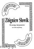 Okładka: Słowik Zbigniew, Do szopy, hej pasterze na kwartet smyczkowy (partytura + głosy)