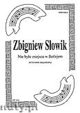 Okładka: Słowik Zbigniew, Nie było miejsca na kwartet smyczkowy (partytura + głosy)