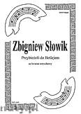 Okładka: Słowik Zbigniew, Przybieżeli do Betlejem na kwaet smyzkowy (partytura + głosy)