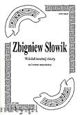Okładka: Słowik Zbigniew, Wśród nocnej ciszy na kwartet smyczkowy (partytura + głosy)