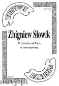 Okładka: Słowik Zbigniew, Z narodzenia Pana na kwartet smyczkowy (partytura + głosy)