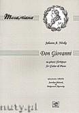 Okładka: Mozart Wolfgang Amadeusz, Don Giovanni na gitarę i fortepian