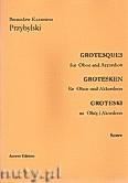 Okładka: Przybylski Bronisław Kazimierz, Groteski na obój i akordeon (partytura + głosy)