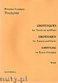 Okładka: Przybylski Bronisław Kazimierz, Groteski na puzon i fortepian (partytura + głosy)