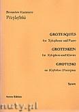 Okładka: Przybylski Bronisław Kazimierz, Groteski na ksylofon i fortepian (partytura + głosy)