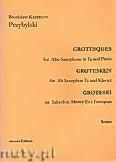 Okładka: Przybylski Bronisław Kazimierz, Groteski na saksofon altowy i fortepian (partytura + głosy)
