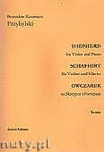 Ok�adka: Przybylski Bronis�aw Kazimierz, Owczarek na skrzypce i fortepian  (partytura + g�osy, ca 2')