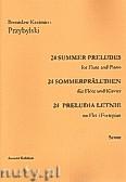 Okładka: Przybylski Bronisław Kazimierz, 24 Preludia letnie na flet i fortepian  (partytura + głosy)