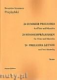 Okładka: Przybylski Bronisław Kazimierz, 24 Preludia letnie na flet i marimbę (partytura + głosy)