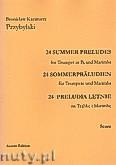 Okładka: Przybylski Bronisław Kazimierz, 24 Preludia letnie na trąbkę B i marimbę (partytura + głosy)