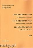 Ok�adka: Przybylski Bronis�aw Kazimierz, 24 Preludia letnie na marimb� i akordeon (partytura + g�osy)