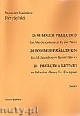 Ok�adka: Przybylski Bronis�aw Kazimierz, 24 Preludia letnie na saksofon altowy i fortepian (partytura + g�osy)