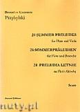 Okładka: Przybylski Bronisław Kazimierz, 24 Preludia letnie na flet i altówkę (partytura + głosy)