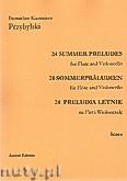 Okładka: Przybylski Bronisław Kazimierz, 24 Preludia letnie na flet i wiolonczelę (partytura + głosy)